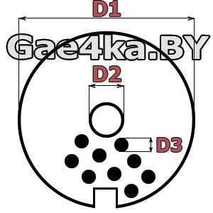 Схема размеров решетки